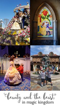 Guide to finding all things Beauty and the Beast in Magic Kingdom - Dixie Delights Disney Magic Kingdom, All Things Beauty, Disney Vacations, Beauty And The Beast, Travel Ideas, Park, Places, Tips, Painting