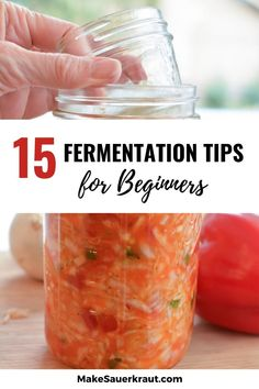 Making homemade sauerkraut, fermented carrot sticks or other fermented vegetables? Check out these 15 simple tricks and tips to ensure easy and successful fermentation. A must-read for beginners. #probiotics #guthealth