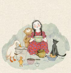 125 images about Art Reference ▪ on We Heart It Et Wallpaper, Korean Artist, Children's Book Illustration, Whimsical Art, Cat Art, Cute Drawings, Illustrations Posters, Art Girl, Art Reference