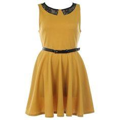 Mod Gathering Dress ($80) via Polyvore