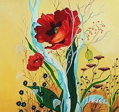 verkauft #Flowwers #Blumen #Mohn Painting, Art, Poppy, Artworks, Florals, Art Background, Painting Art, Paintings, Kunst