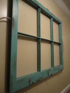 Young and Crafty Sisters: Entryway Window Pane Coat Rack {Tutorial} pane ideas kids Window Pane Decor, Old Window Panes, Window Art, Window Frames, Window Ideas, Window Picture, Windows Decor, Window Panels, Picture Frames