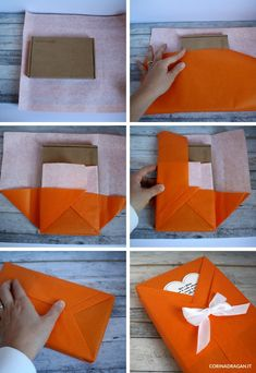 Wrapping Gift, Creative Gift Wrapping, Christmas Gift Wrapping, Creative Gifts, Gift Wrapping Techniques, Gift Wrap Box, Diy Crafts For Gifts, Origami Easy, Homemade Gifts