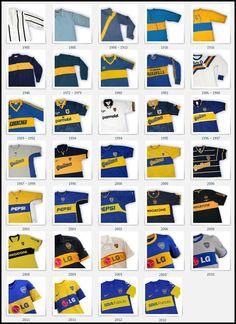 Boca's shirts