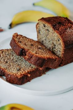 Banana bread is a house staple in our kitchen. We have been using the same easy moist banana bread recipe since my boys were toddlers. Low Fat Banana Bread, Moist Banana Bread, Banana Bread Recipes, Sport Nutrition, Health And Nutrition, Nutrition Month, Vegan Nutrition, Child Nutrition, Nutrition Tips