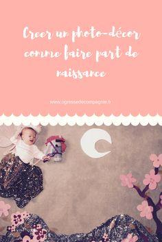 Photo décor avec bébé comme faire-part de naissance