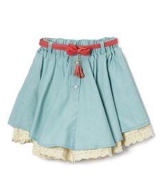 Another great find on #zulily! Teal Pearl & Lace Skirt - Toddler & Girls #zulilyfinds