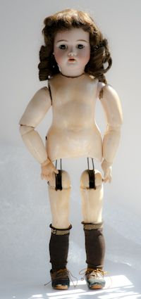 Bahr Proschild Walking Doll mechanical. bisque head composition 394