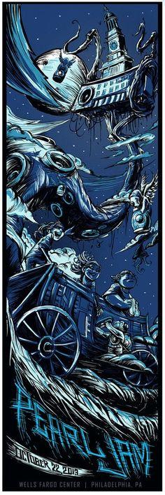 Image of Pearl Jam Philadelphia, PA 2013 Poster