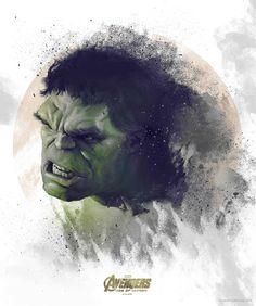 Avengers: Age of Ultron Hulk Portrait - Vlad Rodriguez