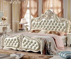 modern european solid wood bed Fashion Carved m bed french bedroom furniture 10019 Oak Bedroom Furniture, Home Furniture, French Bed, Luxury Bedroom Design, Romantic Room, Master Bedroom Closet, Home Comforts, Interior Decorating Tips, Italian Furniture