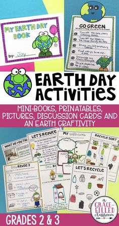 This fun Earth Day resource includes plenty of earth day activities; a mini-book, craft, classroom banner, discussion cards and printables to help students better understand how to Go Green! Students will learn how to be earth conscious and how to reduce, reuse and recycle.