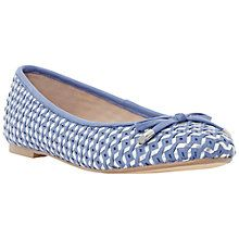 Dune Hobbi Leather Woven Ballerina Pumps