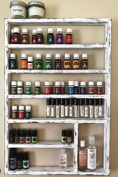 Essential oil shelf, unique gift, gift for her, oil storage, oil rack, wood shelf, hanging shelf, nail polish shelf, nail polish holder by HisHersWoodworking on Etsy https://www.etsy.com/listing/475261561/essential-oil-shelf-unique-gift-gift-for