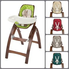 The Stylish Bentwood Highchair Is Easy To Fold And Store.