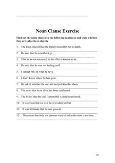 Printables Noun Clause Worksheet subordinate noun clause quiz english exercises practice tofel 28 638 jpg