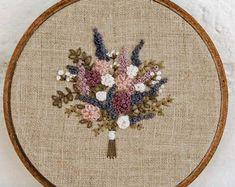 Wildflower Embroidery Hoop Wedding Bouquet by AndOtherAdventures