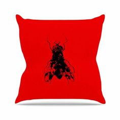 "East Urban Home BarmalisiRTB the Fly Outdoor Throw Pillow Size: 18"" H x 18"" W x 5"" D"