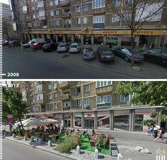 Galeria de Antes/Depois: 30 fotos que mostram que é possível projetar para os pedestres - 27