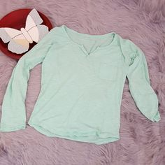 Womens Express Green Convertible 3/4 Sleeve Burnout Henley Top Size Small #129   Clothing, Shoes & Accessories, Women's Clothing, Tops & Blouses   eBay!