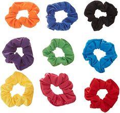 8Pack Shiny Metallic Hair Scrunchies Ponytail Holder Elastic Hair Ties Bands a6