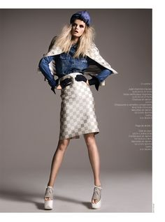 Jennifer Pugh is Denim Clad for French Revue de Modes #22 by Kevin Sinclair found on fashiongonerogue.com