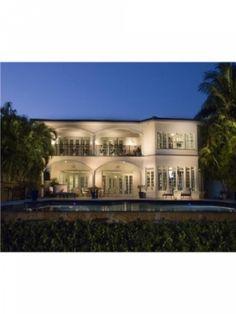 Mediterranean villa with breathtaking views of Biscayne Bay, Florida.