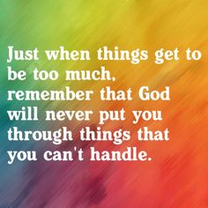 I have to try to remember this....