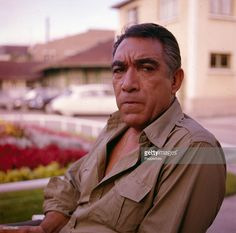 American actor Anthony Quinn (1915-2001) posed on location in 1963.