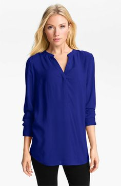 Sandra Ingrish Split Neck Tunic available at #Nordstrom