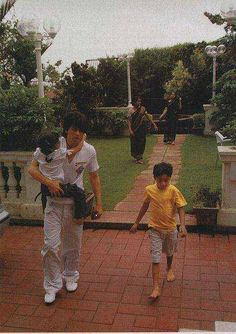Shahrukh Khan - After end of a game with his children Aryan and Suhana. . .
