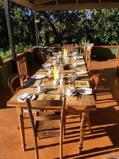 Outdoor Tables, Outdoor Decor, Family Travel, Table Settings, Home Decor, South Africa, Family Trips, Decoration Home, Room Decor
