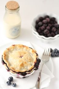 Rustic blueberry pies