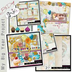 All through out the year of 2013 i will be postibg more and more parts to My Big Project, This mini bundle is special made for a B day celebration, packed with fun elements, clusters, stacked papers, cupcakes and papers too.    Inside this wonderfull B day Mini bundle you can find: 5 12x12 JPEG papers, 1 PNG confetti overlay, 2 stacked papers JPEG format, and 35 PNG elements, you can also find 4 yummy cupcakes ready for your celebration pages.