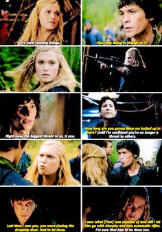 The 100. Bellamy and Clarke parallels.