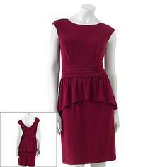 Only $21.60!- Kohls-also in black-Pintuck Peplum Dress