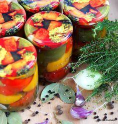 Smaczna Pyza: Przetwory. Na zimę. Pyszna papryka marynowana Polish Recipes, Canning Recipes, Beets, Preserves, Pickles, Salads, Recipies, Food And Drink, Healthy Eating