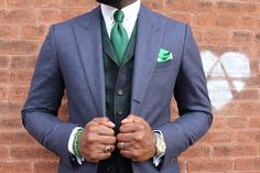 Our Nigeria Pocket Square in Action.