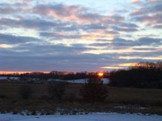 Sunset view over the marsh...
