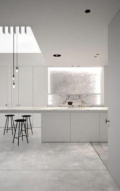 Light and bright minimalist kitchen