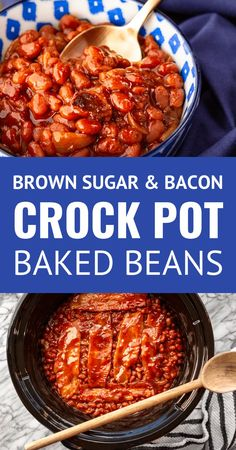 Baked Beans Crock Pot, Canned Baked Beans, Best Baked Beans, Slow Cooker Baked Beans, Baked Beans With Bacon, Beans In Crockpot, Baked Bean Recipes, Crock Pot Slow Cooker, Pork Recipes