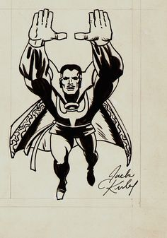 Jack Kirby's version of Steve Ditko's Doctor Strange.
