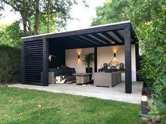 Backyard Seating, Backyard Patio Designs, Outdoor Pergola, Backyard Pergola, Summer House Garden, Home And Garden, Back Garden Design, Design Your Life, Terrace Garden