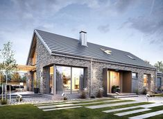 Modern Brick House, Home Fashion, Pergola, Mansions, House Styles, Outdoor Decor, Home Decor, U Shaped Houses, Mansion Houses
