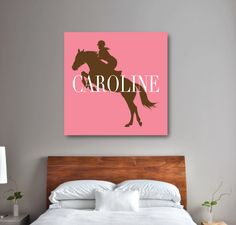 Add a personalized touch to your room with this equestrian canvas. It is perfect for any horse lover's bedroom or bathroom. Horse themed gift. Horse decor