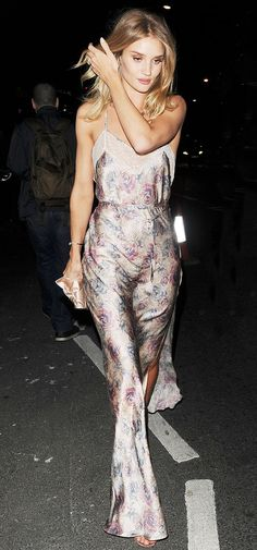Rosie Huntington-Whiteley Just Wore a Nightgown While Out in London via @WhoWhatWearUK