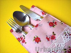 Silverware Holder Fabric Cutlery Pouch Cutlery Holder by UrbanPick