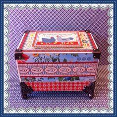 Scrappiness: Oppskriftsboks Distress Ink, Ann, Decorative Boxes, Journal, Lattices, Decorative Storage Boxes