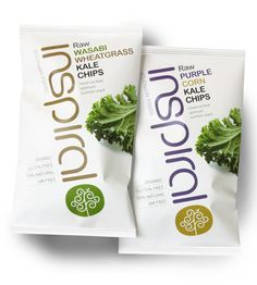 Packaging for health food brand Inspiral Foods designed by Studio h.