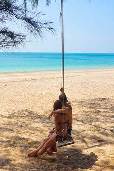 Travel Couple Beach Adventure